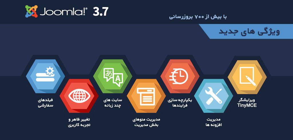 جوملا 3.7 کامل تر از همیشه با امکانات فراوان