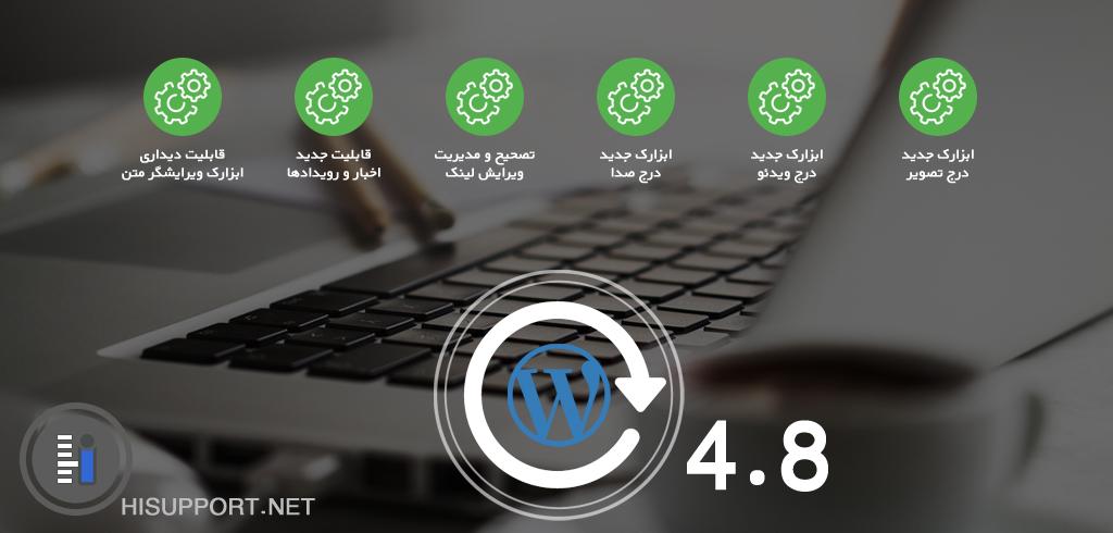 با امکانات و ویژگی های وردپرس 4.8 آشنا شوید