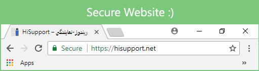 نماد سبز رنگ وبسایت